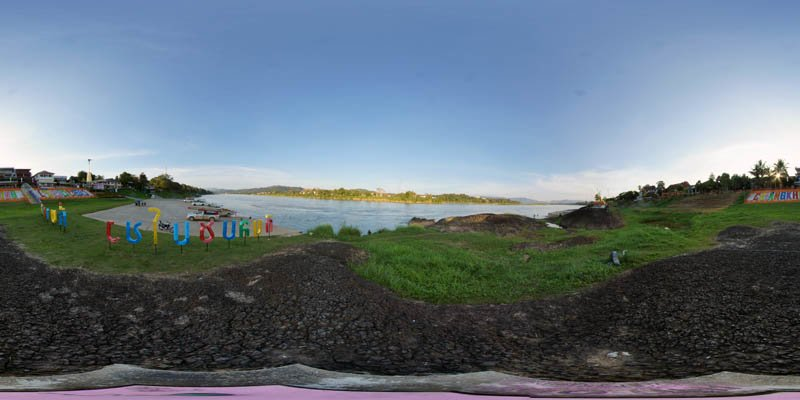 Chiang Khong Riverside January 2017 Panorama Preview