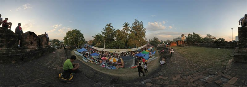 Chiang Mai Flower Festival February 2013 Panorama Preview