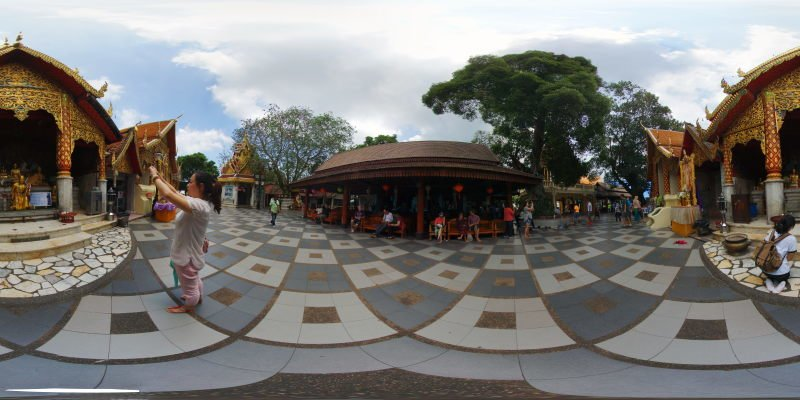 Wat Prathat Doi Suthep Arrival Area May 2015 Panorama Preview