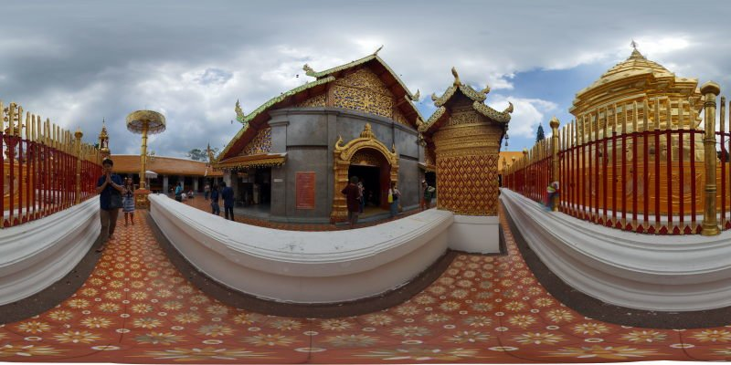Wat Prathat Doi Suthep Chedi May 2015 Panorama Preview