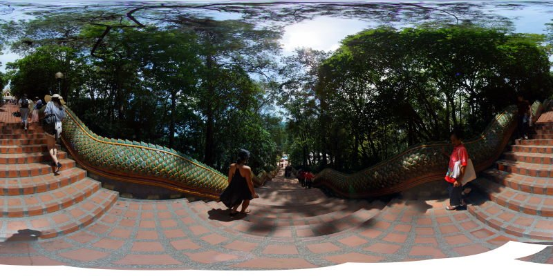 Going Down from Wat Phra That Doi Suthep 2015 Panorama Preview