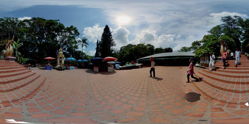 Back Down from Wat Phrathat Doi Suthep 2015 Panorama Panorama Preview