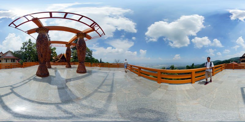 Wat Prathat Doi Suthep Viewing Terrace May 2015 Panorama Preview