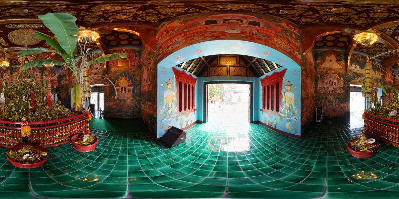 Inthakin Merit Making Wat Chedi Luang 2015 Panorama Panorama Preview