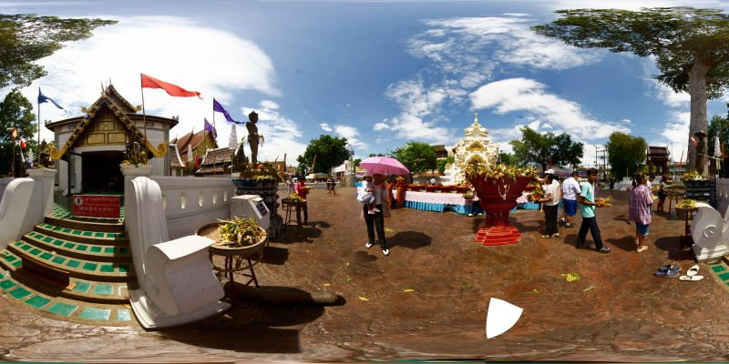 Inthakin Meri Making Wat Chedi Luang 2015 Panorama Panorama Preview