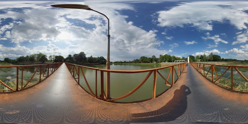 A Sluice Gate and Bridge over the Ping River Panorama Preview