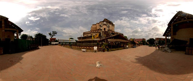Wat Chedi Luang Chiang Mai in 2008 Panorama Preview