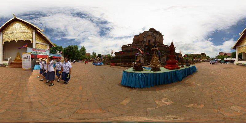 Wat Chedi Luang Stupa 2015 Panorama Panorama Preview