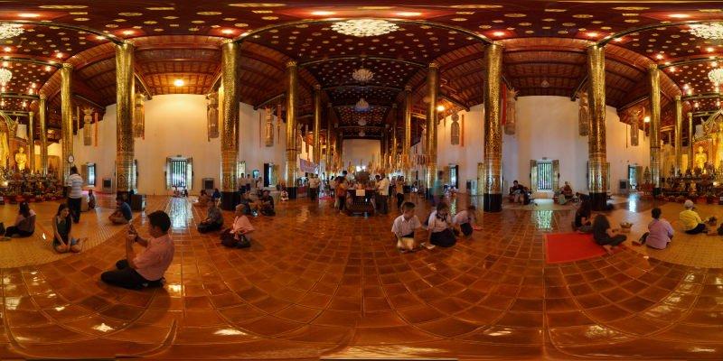 Wat Chedi Luang Inside Chedi 2015 Panorama Panorama Preview