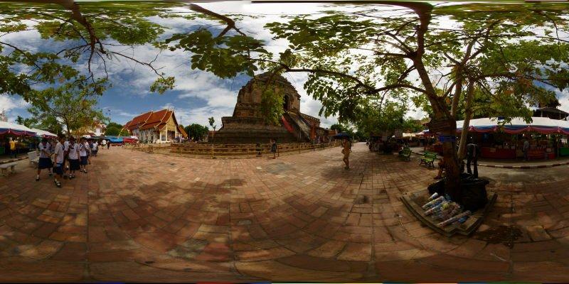 Wat Chedi Luang Chedi 2015 Panorama Panorama Preview