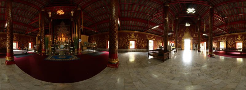 Wat Chiang Man Chiang Mai 2012 Inside Panorama Panorama Preview