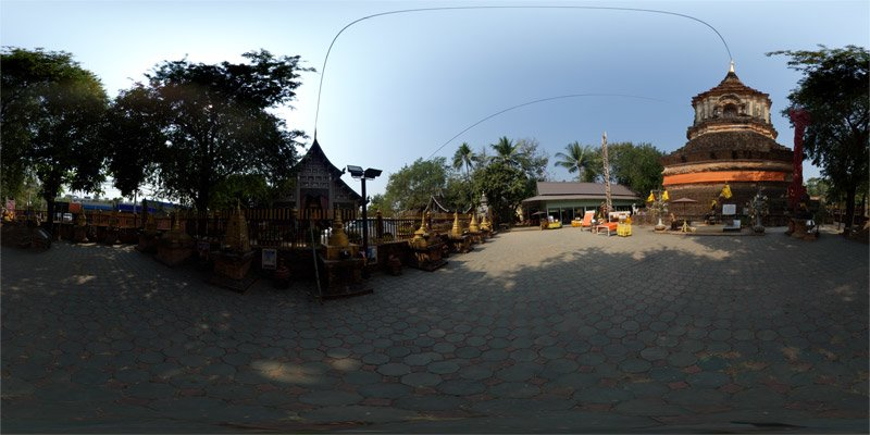 Wat Lok Moli Chiang Mai in February 2014 Panorama Preview