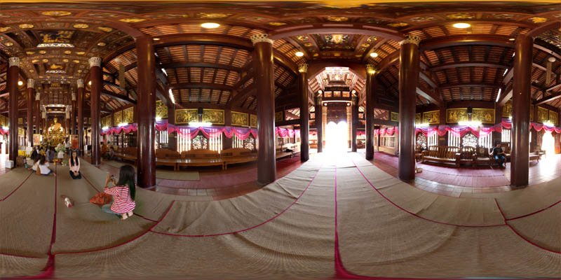 Wat Lok Moli on Makha Bucha Day 2014 Panorama Preview