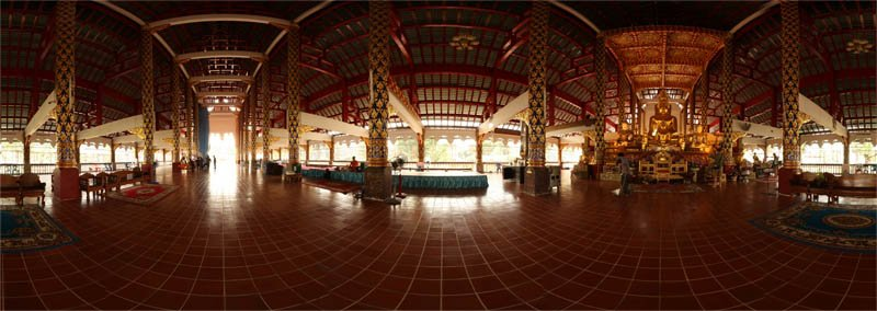 Wat Suan Dok Sermon Hall Panorama February 2013 Panorama Preview