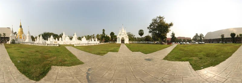 Wat Suan Dok Temple Grounds Panorama February 2013 Panorama Preview