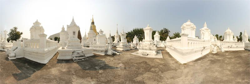 Wat Suan Dok Mausoleums Panorama February 2013 Panorama Preview