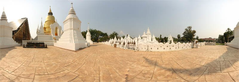 Wat Suan Dok Chedi Panorama February 2013 Panorama Preview