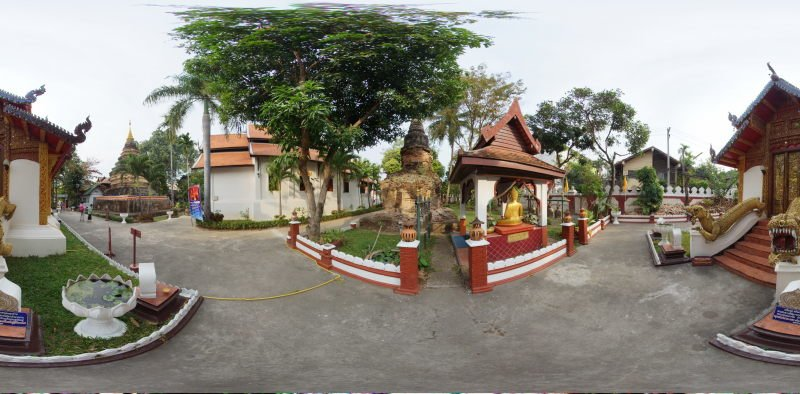 Wat Umong Maha Thera Chan Ubosot January 2015 Panorama Panorama Preview