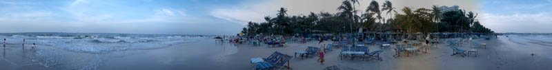 Hua Hin Beach in 2004 Panorama Preview