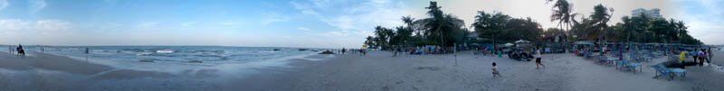 Hua Hin Beach Low Tide in 2004 Panorama Preview