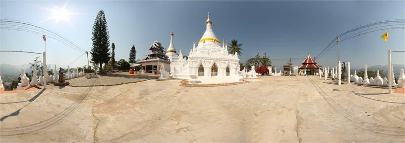 Wat Phra That Doi Khong Mu Mae Hong Son in February 2013 Panorama Preview