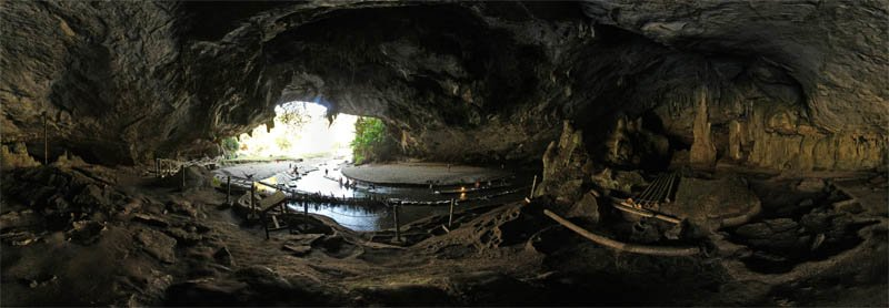 Tham Lot Cave in Mae Hong Son Province in February 2013 Panorama Preview