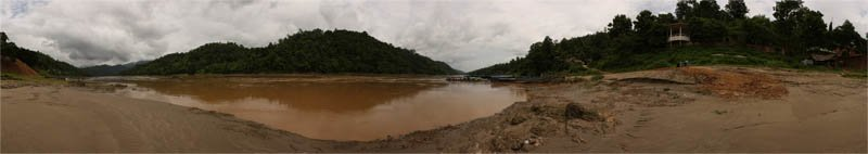 The Mighty Salaween (Salwin) River in the Rainy Season 2008 Panorama Preview