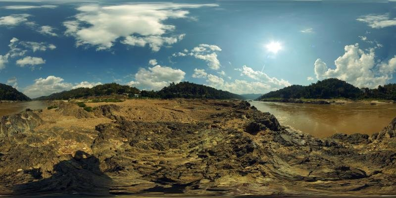 The Mighty Salaween (Salwin) River in January 2018 Panorama Preview
